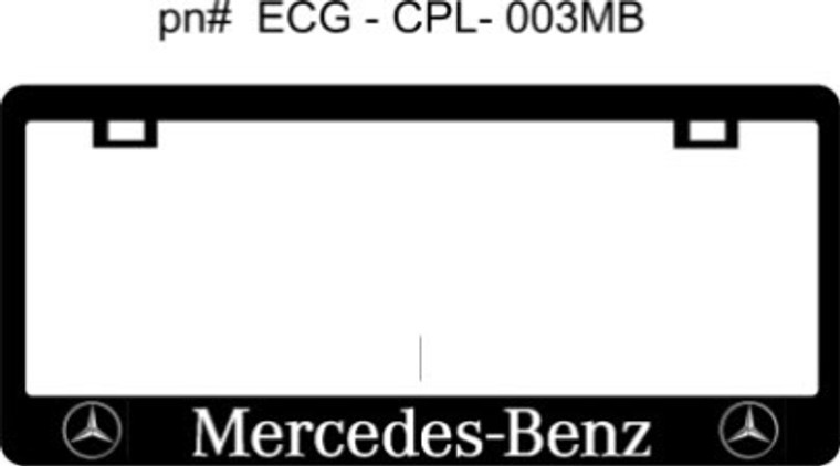 Mercedes Benz CF Plate Frame SILVER TEXT