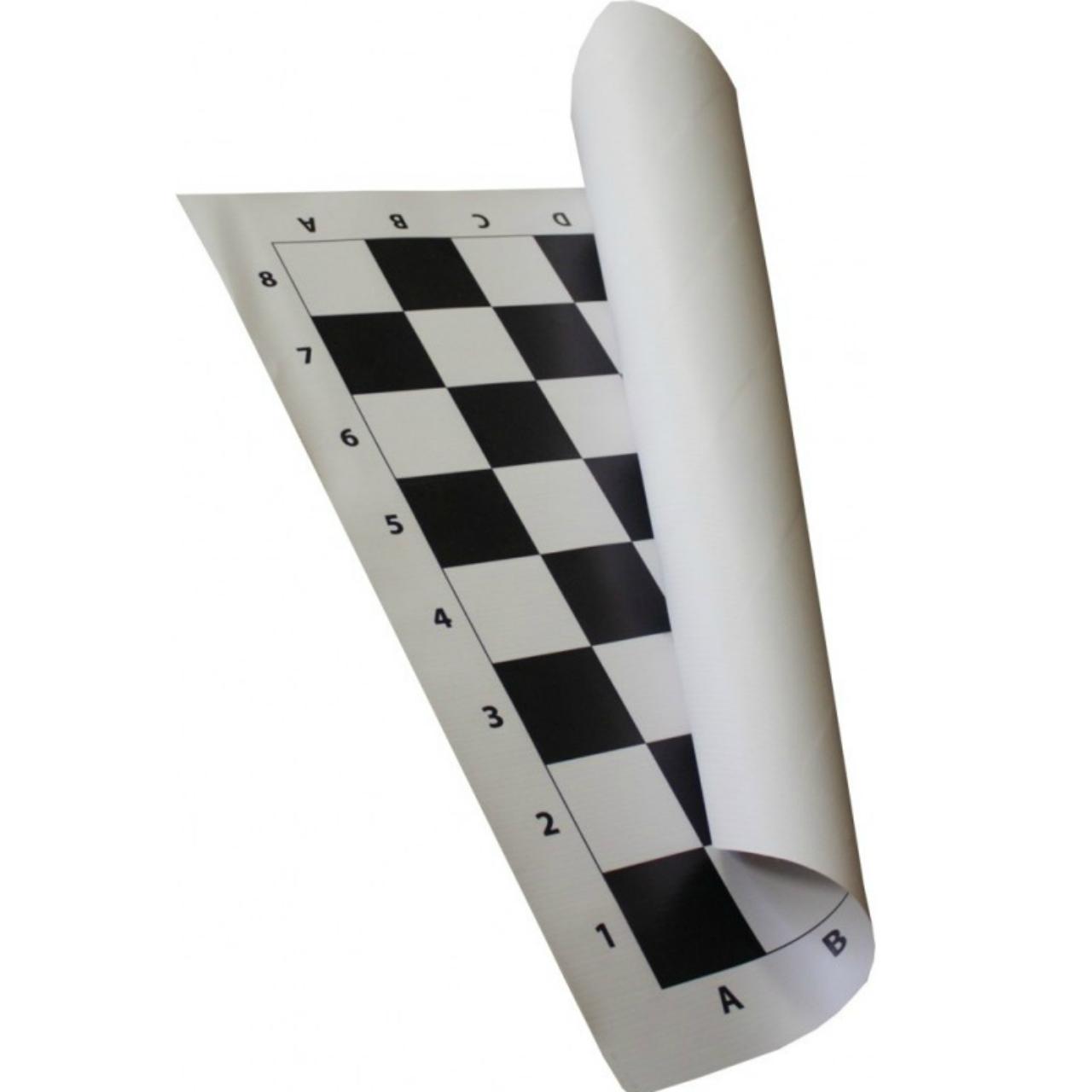 50cm Vinyl Roll-up Tournament Chess Board (BB001) b&w