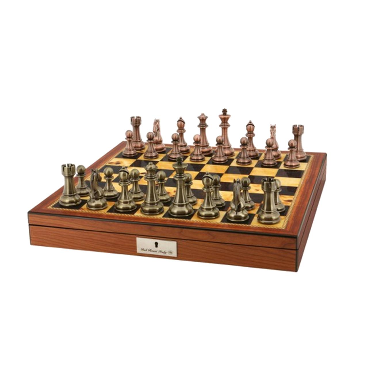 Dal Rossi 50cm Walnut Finish Board with Copper / Bronze finish pieces (L2053DR & L3223DR)