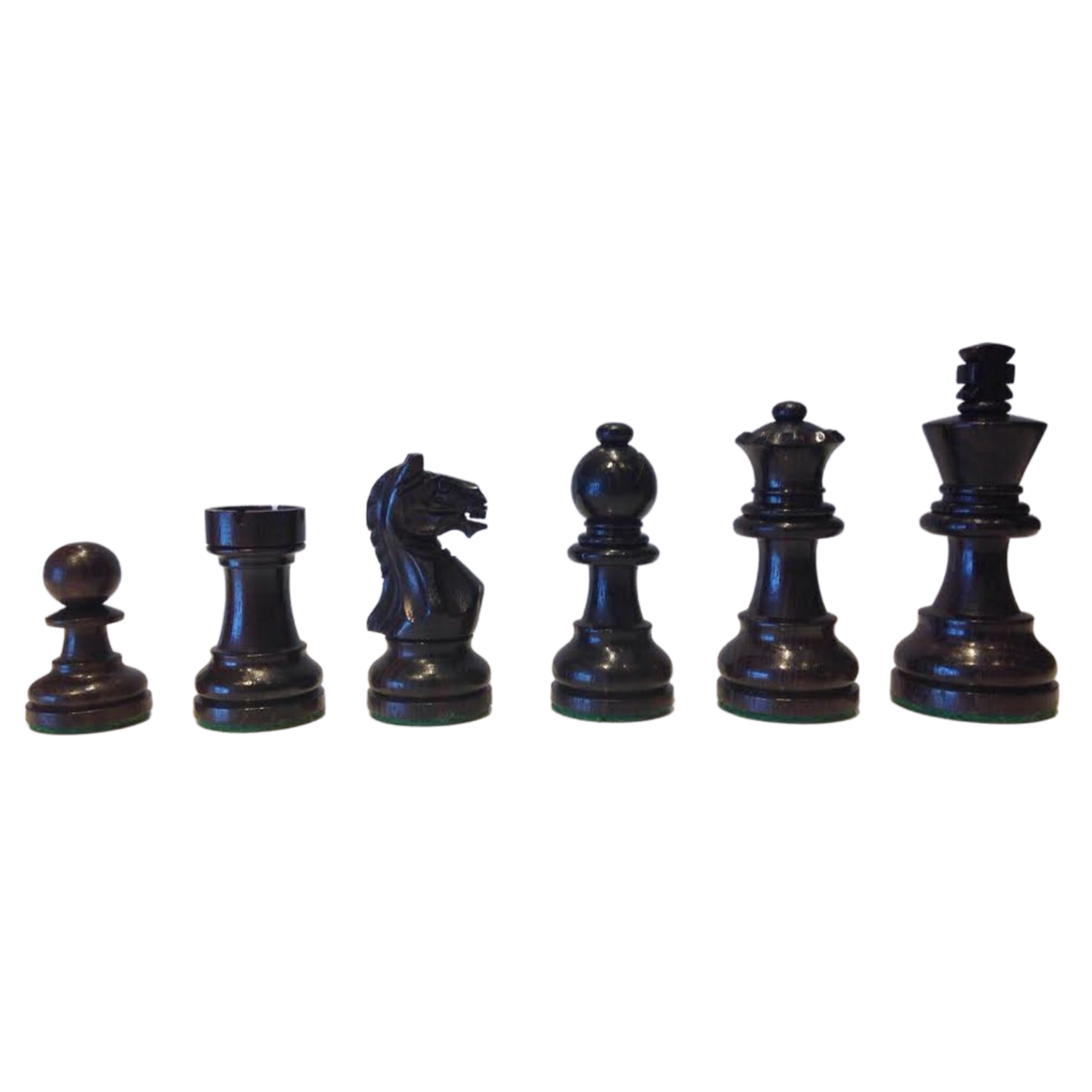 Rex Noir Expert 68mm Rosewood / Boxwood Chess Pieces Only (EXP-R-68) dark