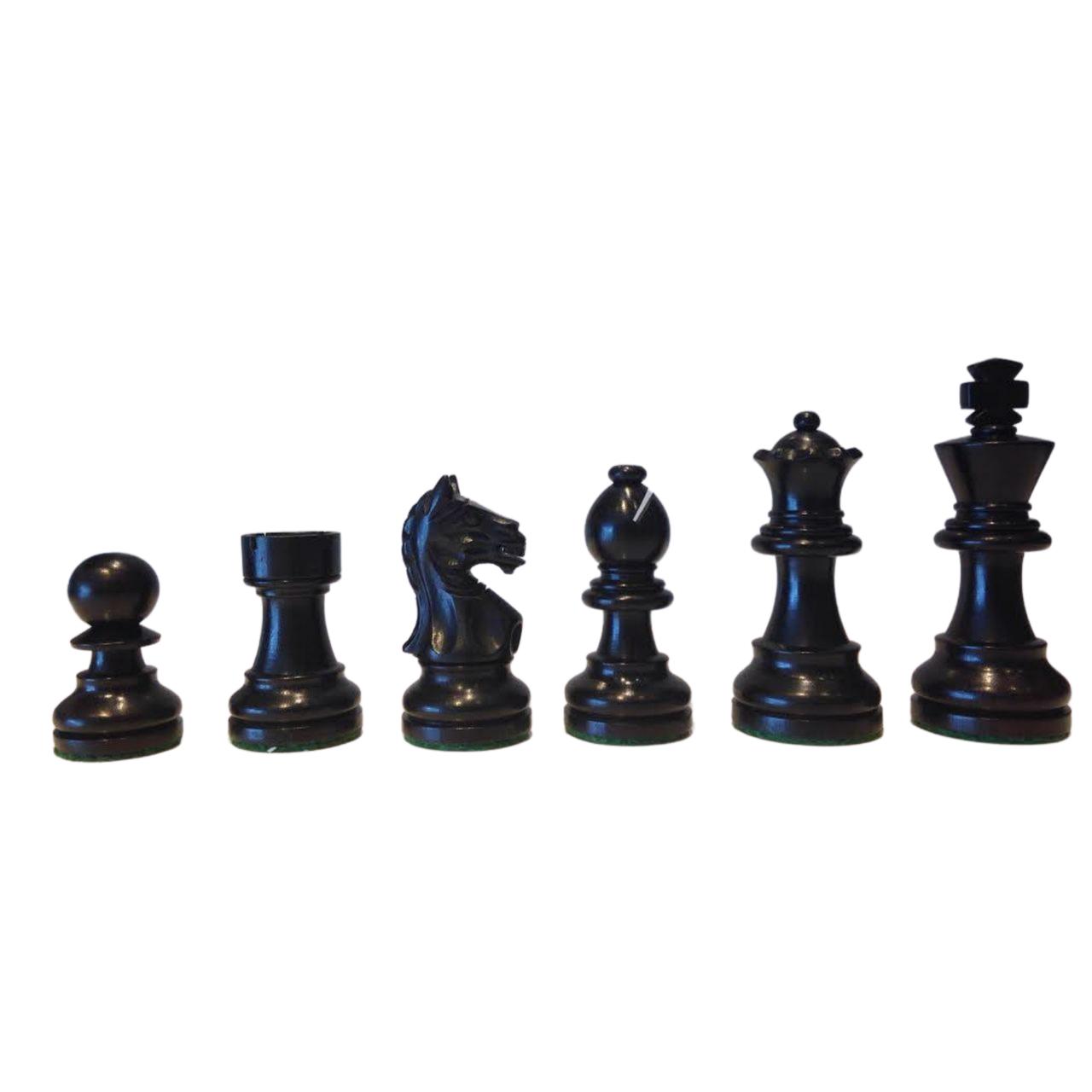 Rex Noir Expert 68mm Ebony / Boxwood Chess Pieces (EXP-E-68) dark