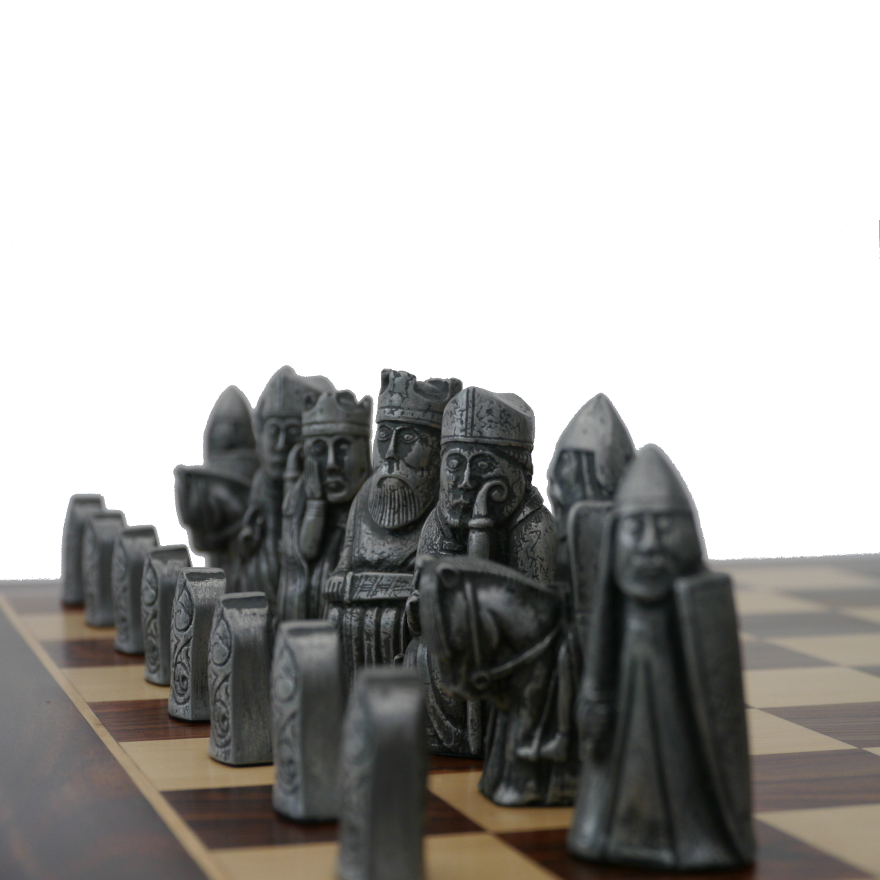 Berkeley Chess Isle of Lewis Metal Finish Chessmen pieces (BC4001)