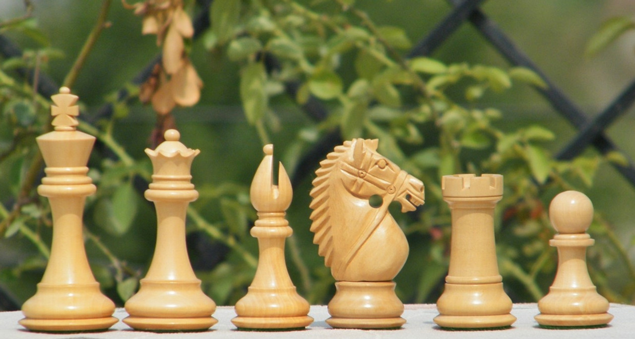 Rex Noir Prestige 102mm Bridled Knight Acacia Chess pieces (PRE-A-102)