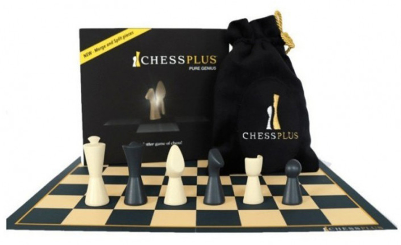 Chessplus pieces in Box with Board and Velvet Pouch (CP1101)