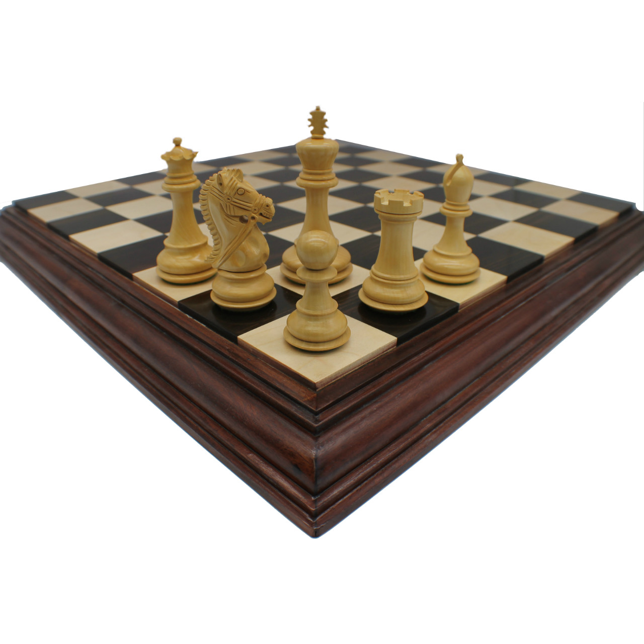 Rex Noir 102mm Bridled Knight Rosewood Chess Pieces (BUE-R-10)