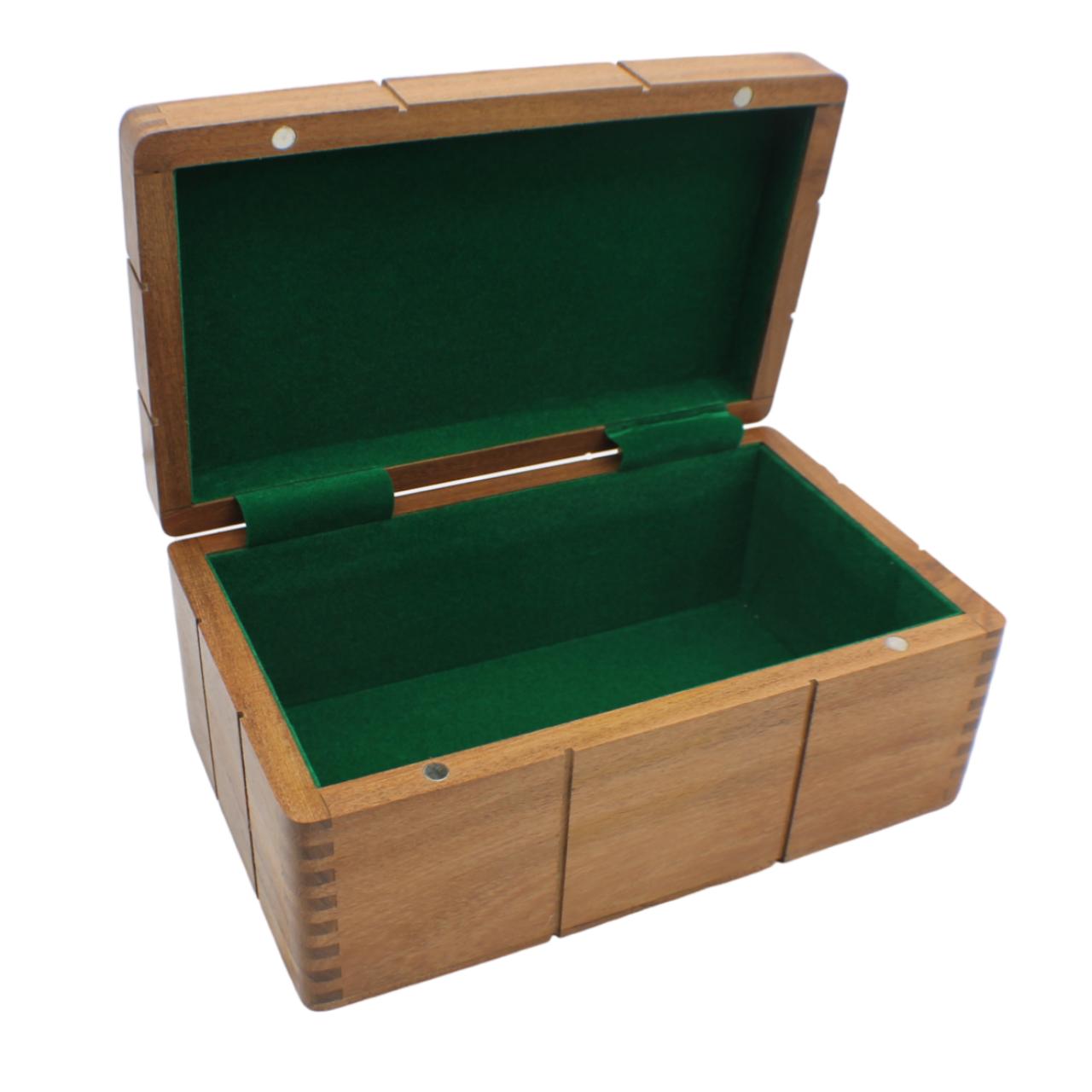 Rex Noir Acacia Chess Storage Box - Medium (BOX-A-85) open