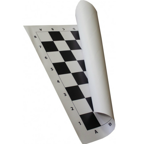 50cm Vinyl Roll-up Tournament Chess Board (BB001) b&w
