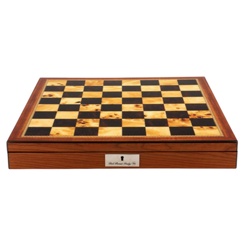 Dal Rossi 50cm Walnut Finish Chess Board with Storage Compartment (Board Only) (L2255DR) board