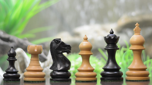 Rex Noir Paris 98mm Ebony/Boxwood Chess Pieces Only (PAR-E-10) mixed