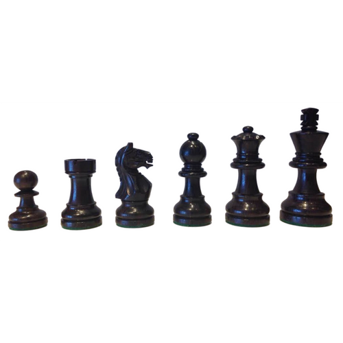 Rex Noir Expert 95mm Rosewood / Boxwood Chess Pieces Only (EXP-R-95)