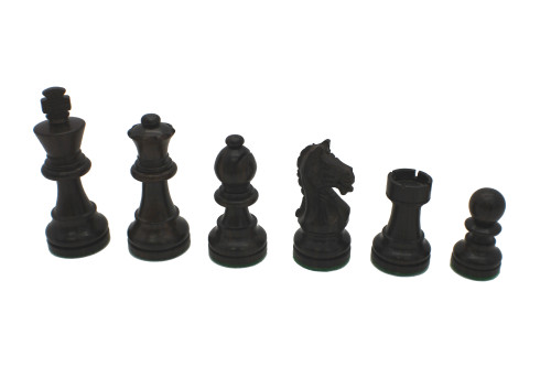 Rex Noir Expert 75mm Rosewood / Boxwood Chess Pieces Only (EXP-R-75) dark