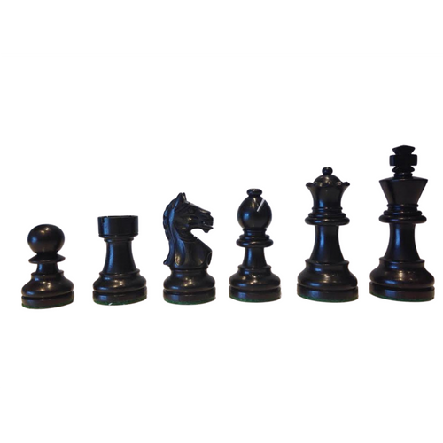 Rex Noir Expert 68mm Ebony / Boxwood Chess Pieces (EXP-E-68) dark