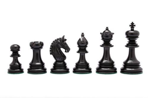 Rex Noir Istanbul 108mm Ebony/Boxwood Triple Weighted Pieces Only (IST-E-11) dark