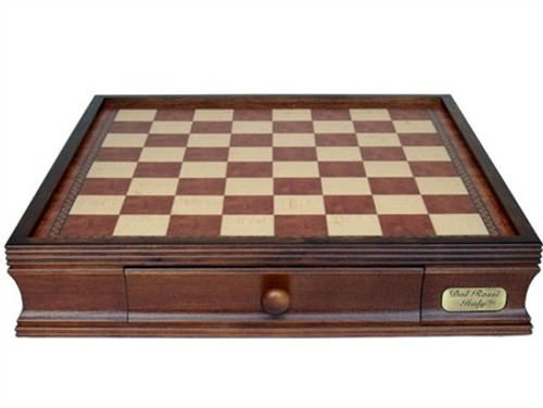 Dal Rossi 40cm Wooden Chess Board with Storage Drawers (Board Only) (L2244DR) board