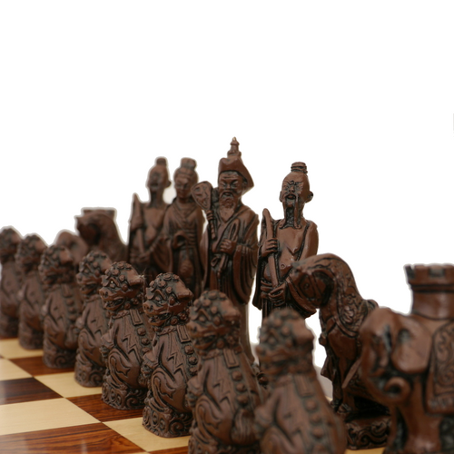 Berkeley Chess Mandarin (Brown) Chessmen pieces (BC2005)
