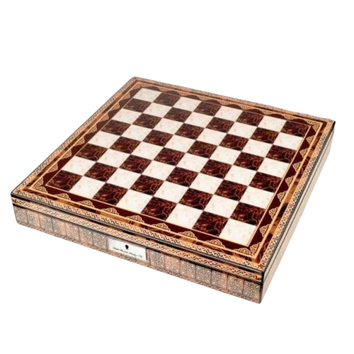 Dal Rossi 50cm Mosaic Finish Chess Board with Storage Compartment (Board Only) (L2268DR) top