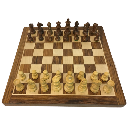 Rex Noir Expert 68mm Acacia / Boxwood Chess Pieces Only (EXP-S-68)