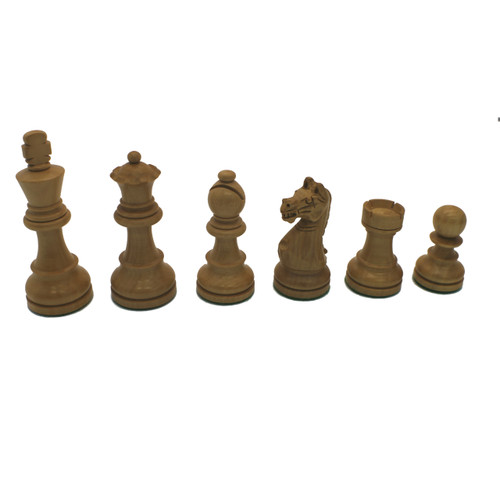 Rex Noir Expert 85mm Acacia / Boxwood Chess Pieces Only (EXP-S-85) light pieces