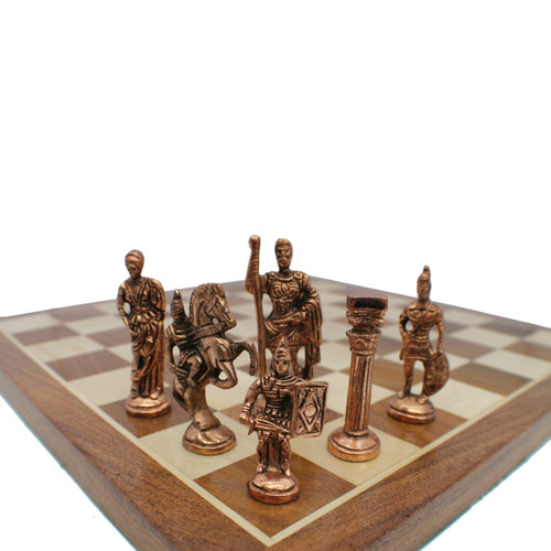 Rex Noir Prestige Roman Series Brass Chess Pieces (PRE-ROM-85) dark