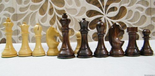 Rex Noir Prestige 95mm WCC Rosewood Chess pieces (PRE-R-95)