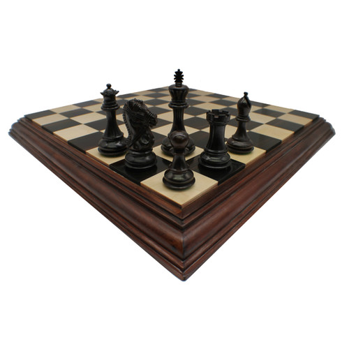 Rex Noir 102mm Bridled Knight Rosewood Chess Pieces (BUE-R-10) dark 2