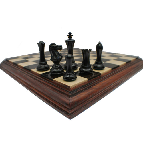 Rex Noir Prestige Empire 95mm Ebony Chess Pieces with Storage Case (PRE-EB-95) dark