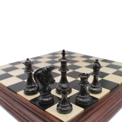 Rex Noir 101mm Prestige Rosewood Chess Pieces (PRE-R-101)