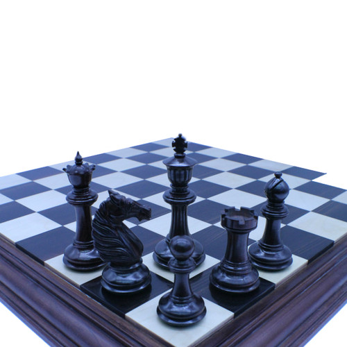 Rex Noir 114mm Prestige Bath Knight Rosewood Chess Pieces with Storage Case (PRE-R-114)