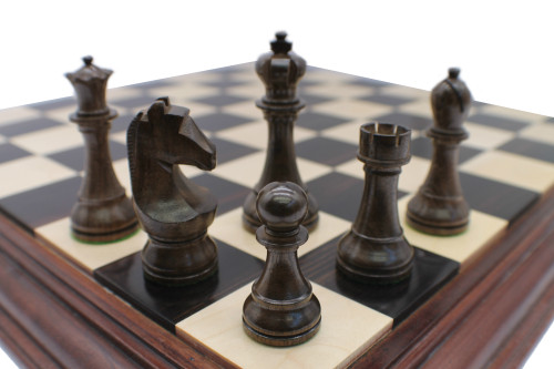 Rex Noir Prestige World Championship Chess set 2014 95mm Acacia Chess Pieces (PWC-AC-95)