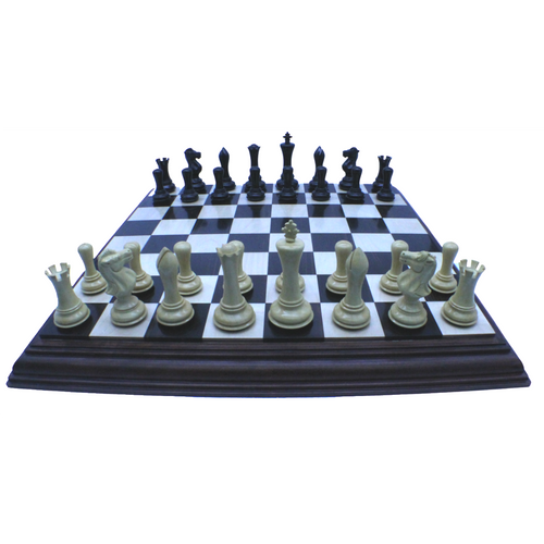 Rex Noir Luxury Prestige Chess Set 95mm Ebony pieces on 55cm board (PREEB95+PRESTEP55)