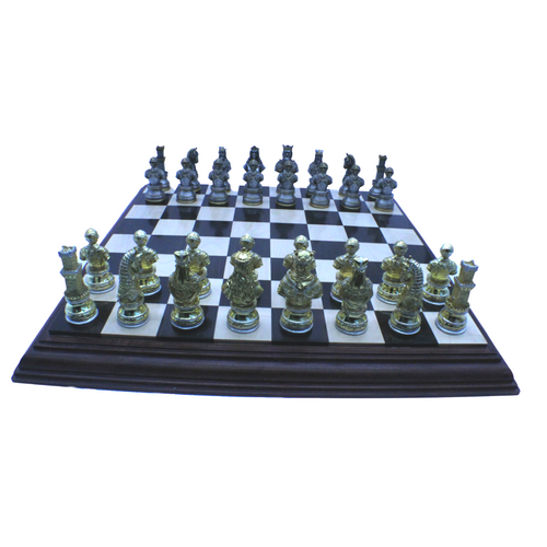 Rex Noir and Italfama Luxury Medieval Chess Set (ITALFAMA+ESTEP55) full