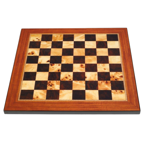 Dal Rossi 50cm Walnut Gloss Finish Chess Board (L7817DR)