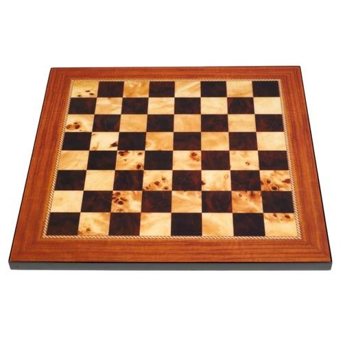 Dal Rossi 40cm Walnut Gloss Finish Chess Board (L7816DR)