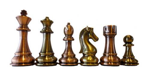 Dal Rossi 110mm Bronze / Copper Colour Chess Pieces (L3223DR)