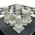 """12"""" Onyx Marble Chess Set with Velvet Case Black / White (109CW) white closeup"""