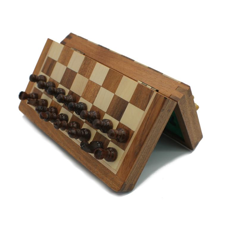 """Rex Noir 18cm / 7"""" Flip Magnetic Travel Chess Set (FLI-S-18)"""