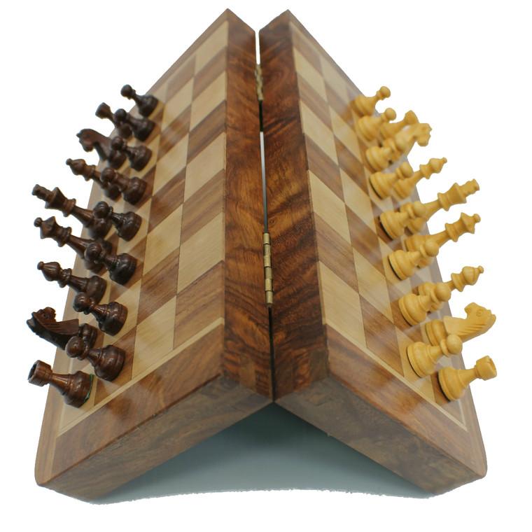 Rex Noir 25cm Flip Magnetic Travel Chess Set (FLI-S-25) folded