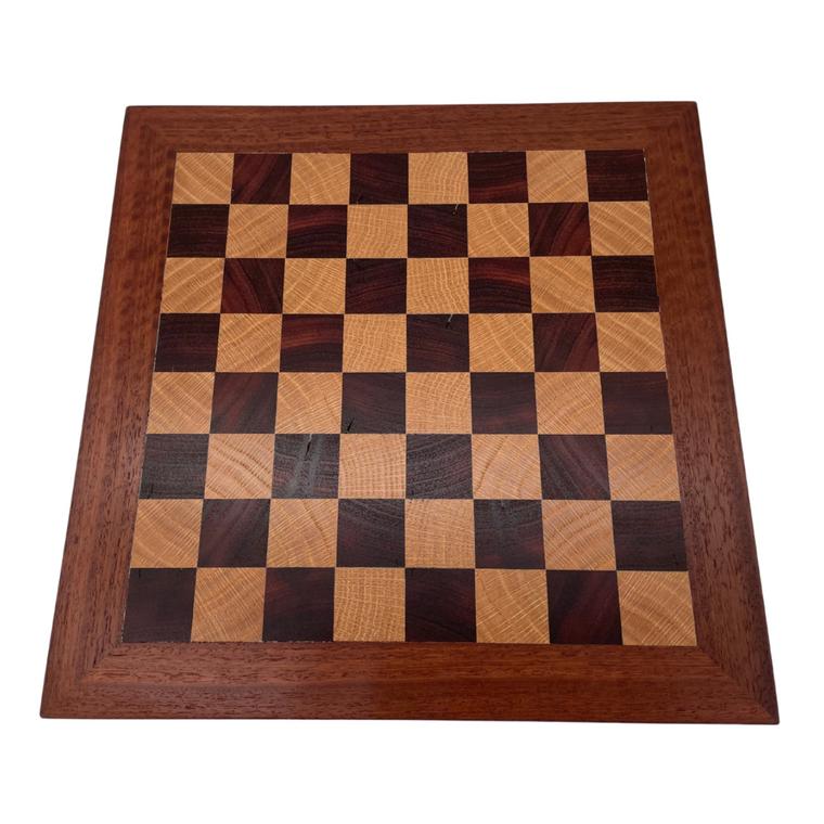 Australian Made Jarrah & American Oak 30cm Chess Board - top