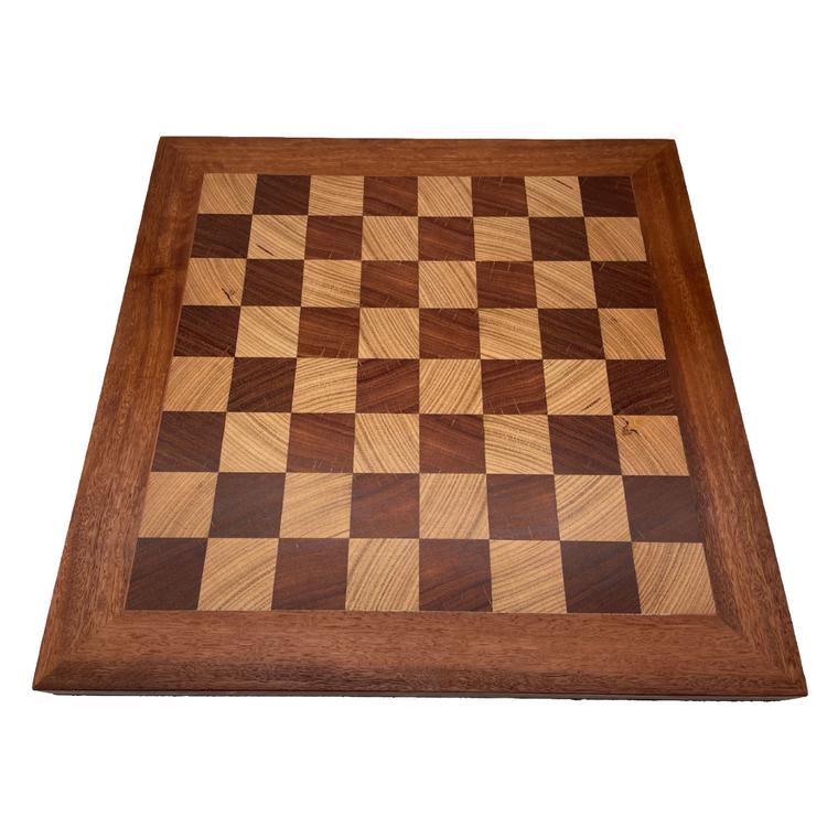 Australian Made Jarrah & Blackbutt 50cm Chess Board - top