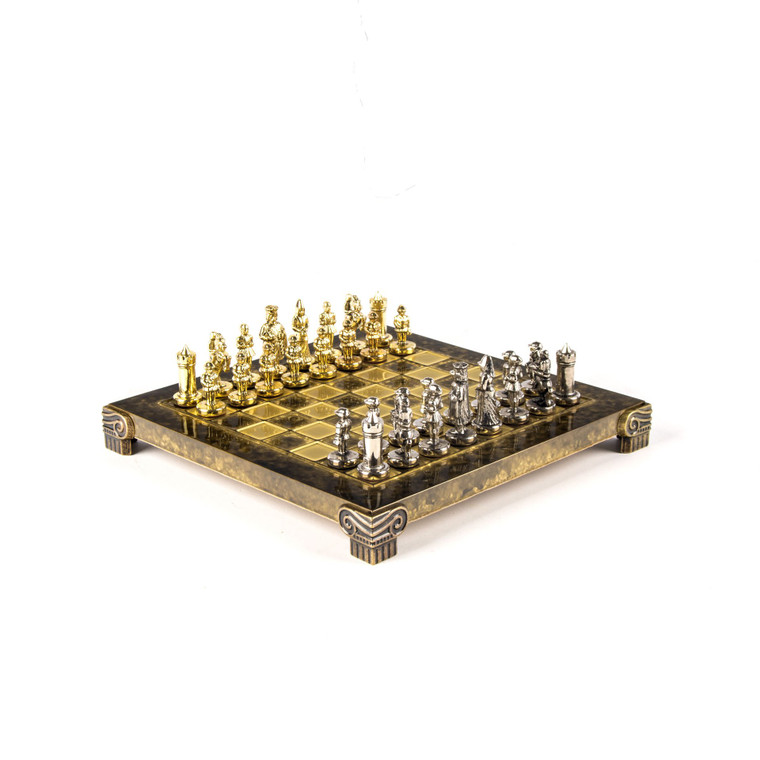 Manopoulos BYZANTINE EMPIRE Chess Set with 20cm and Storage Box (S1BRO)