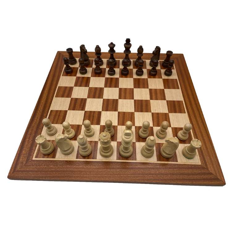 50cm Mahogany and Oak Board with 100mm Hornbeam pieces (WB50MandCHW28)