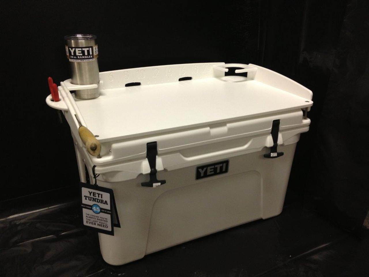 "If you're a Yeti Fan, this is one ""must have"" accessory that EVERY Yeti Tundra Cooler Owner should have.  Keep your cooler in pristine condition, and use Mangrove Marine's ""Fit and Go"" Top Bait Station for bait cutting, chum cutting and fileting when you go fishing or just partying and need to cut limes for the Margaritas."
