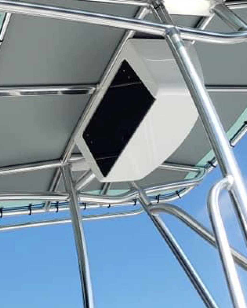 """Premium fiberglass marine grade products from Mangrove Marine are top of the line.   Check out our Electronics Boxes with all stainless hardware, push button lock and available in 24"""" and 29.5"""" widths"""