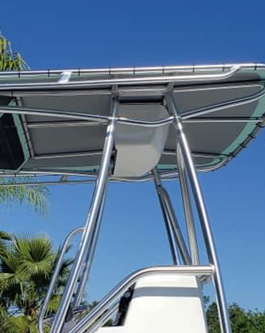"""Side view of MangroveMarine.com Electronics Box in 24"""" and 29.5"""".     Options for white and off-white.   Call for custom colors."""