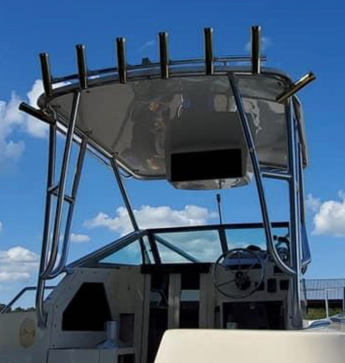 Electronics Box by Mangrove Marine Products mounted on t top