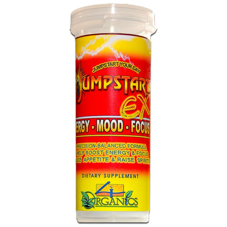 JUMPSTART EX is a natural, premium quality nootropic CNS energy stimulant supplement scientifically-designed to support peak physical / mental performance and a positive disposition to help you be at your best.4 organics