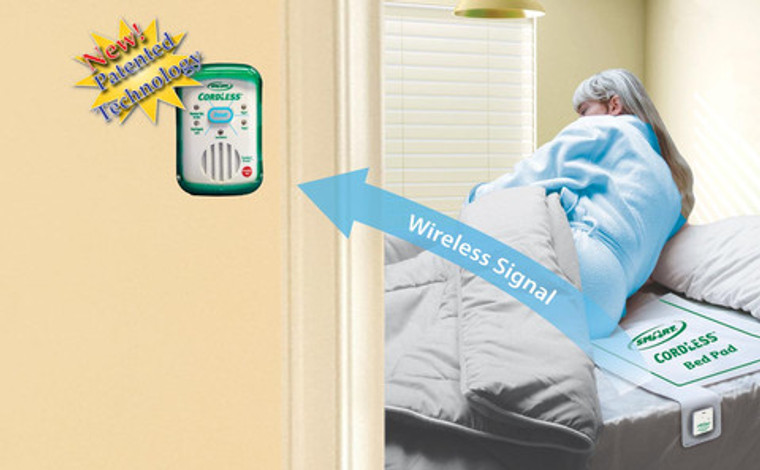 Wireless Monitor for Bed and Chair Pad Pressure Sensitive Combo