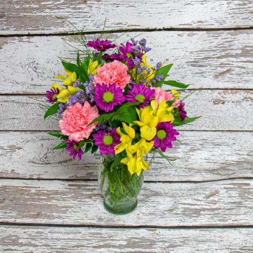 Pink Posie Vase Arrangement