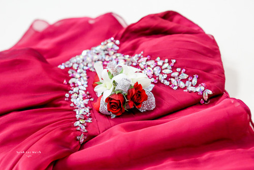 Red Elegance Corsage