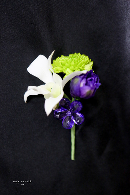 Pop of Purple Boutonniere